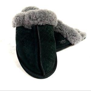 UGG Scuffette II Cozy Suede Fuzzy Wool Slippers